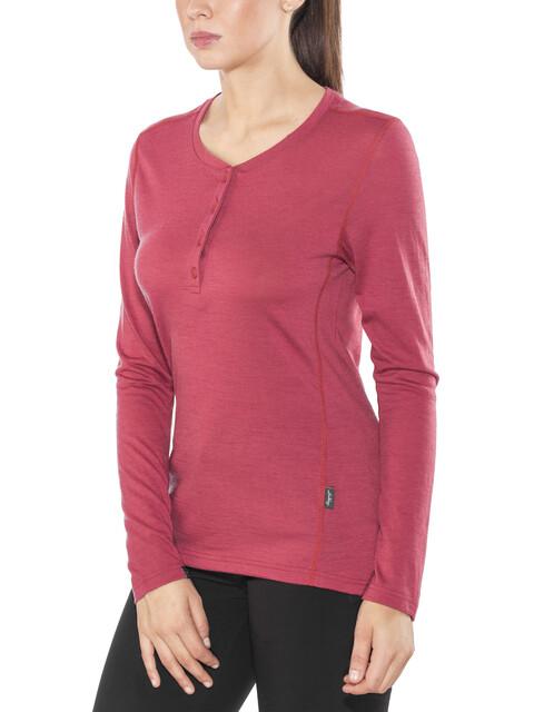 Lundhags W's Merino Light LS Henley Shirt Garnet